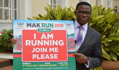 Katikiro Peter Mayiga the chief runner for Makerere Run 2018
