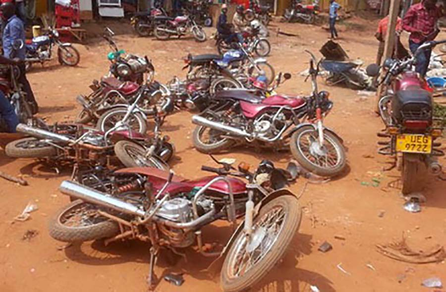 Some of the confiscated Boda Boda by police