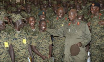 UPDF army with President Museveni