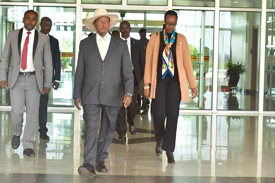 Museveni in Russia for the financial summit