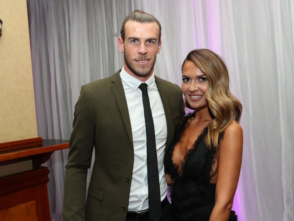 Gareth Bale and his wife