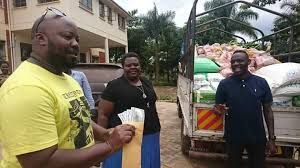 Pastor Wilson Bugembe donates Dollars and Food