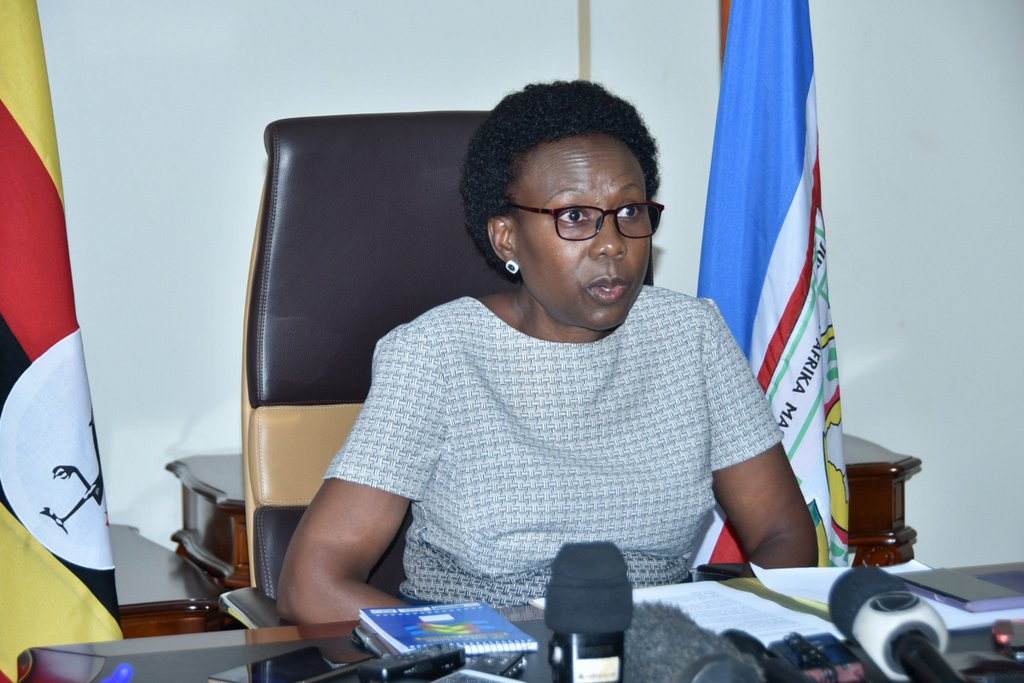 Ministry of Health minister Jane Ruth Aceng. Covid-19 death toll covid 19 cases
