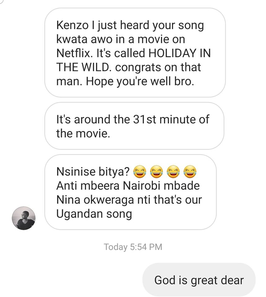 Eddy Kenzo HOLIDAY IN THE WILD