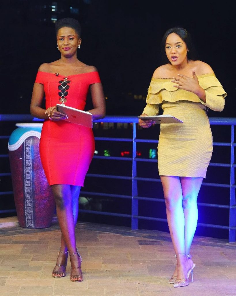 Zahara Totto and Anatalia Oze of UNCUT TV show on NBS Television