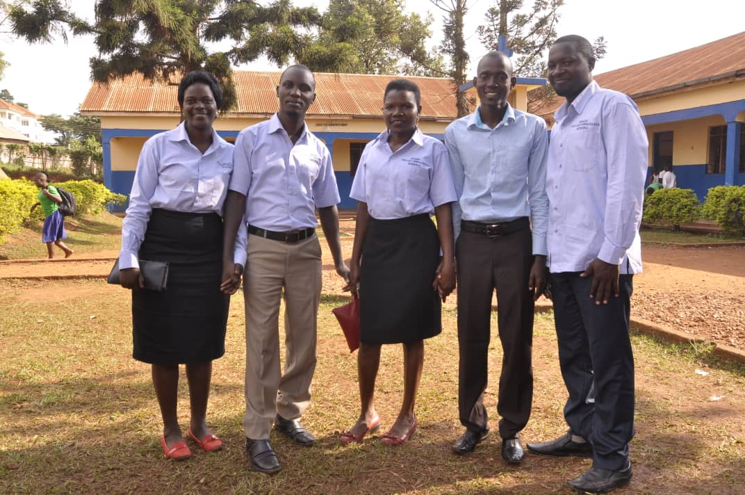 Some of the teachers of Our Lady Consolata ss Kireka one of the Catholic founded school