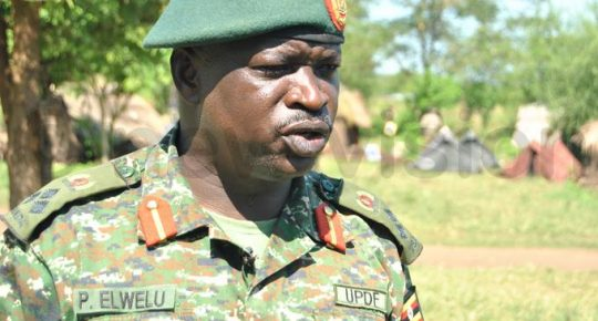 Lt Gen Peter Elwelu urges retired army officers to gov't ambassadors