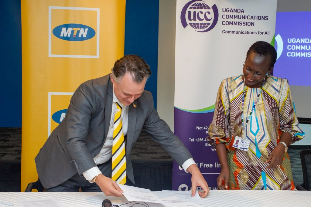 MTN Uganda and UCC Sign the MTN UG License Renewal Agreement