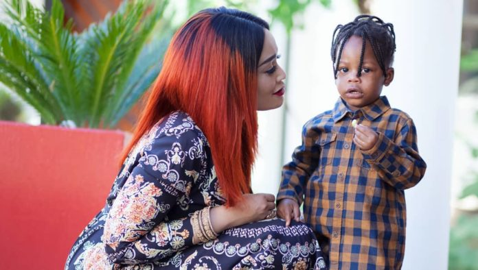 Zari Hassan and Diamond Platinumz with their stubborn son, Nillan