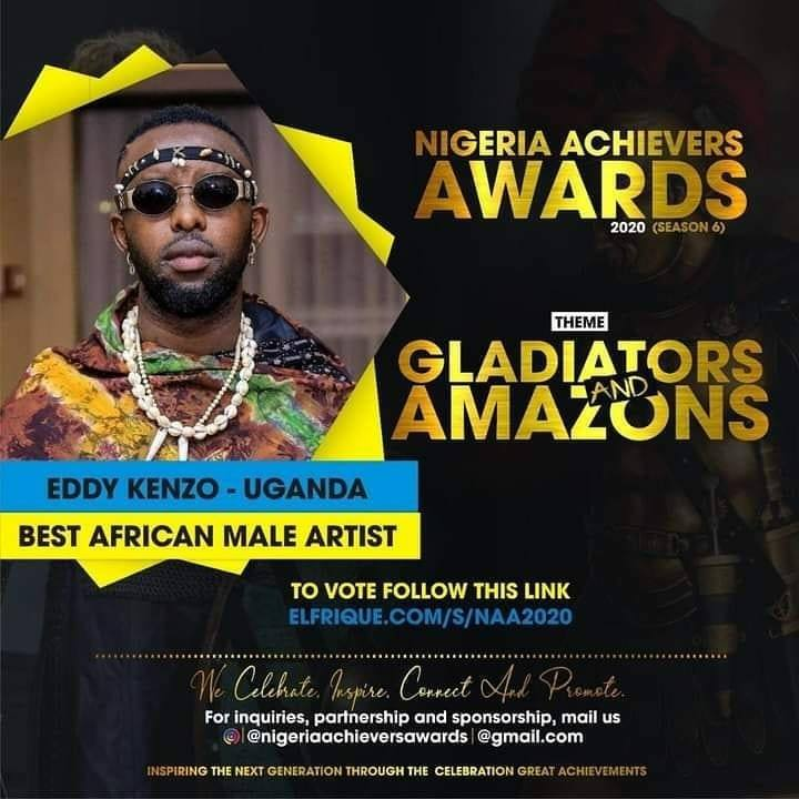 Eddy Kenzo gets nominated in Nigeria's Achievers Awards