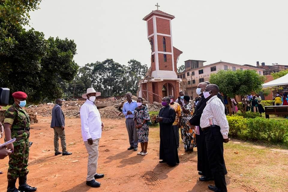 Museveni visits site of demolished St Peter's Church in Ndeeba