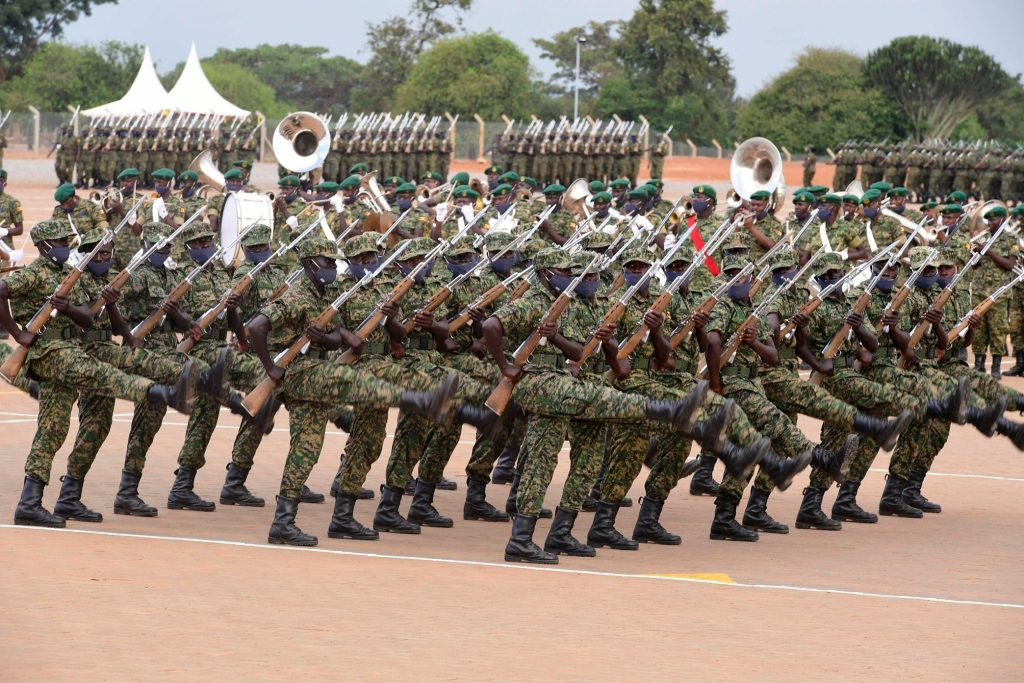 Museveni passes out 4325 soldiers at Kaweweta Recruits Training School