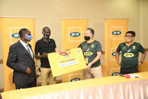 MTN Uganda rewards Joshua Cheptegei with a cash prize of Ugx 123,536,000