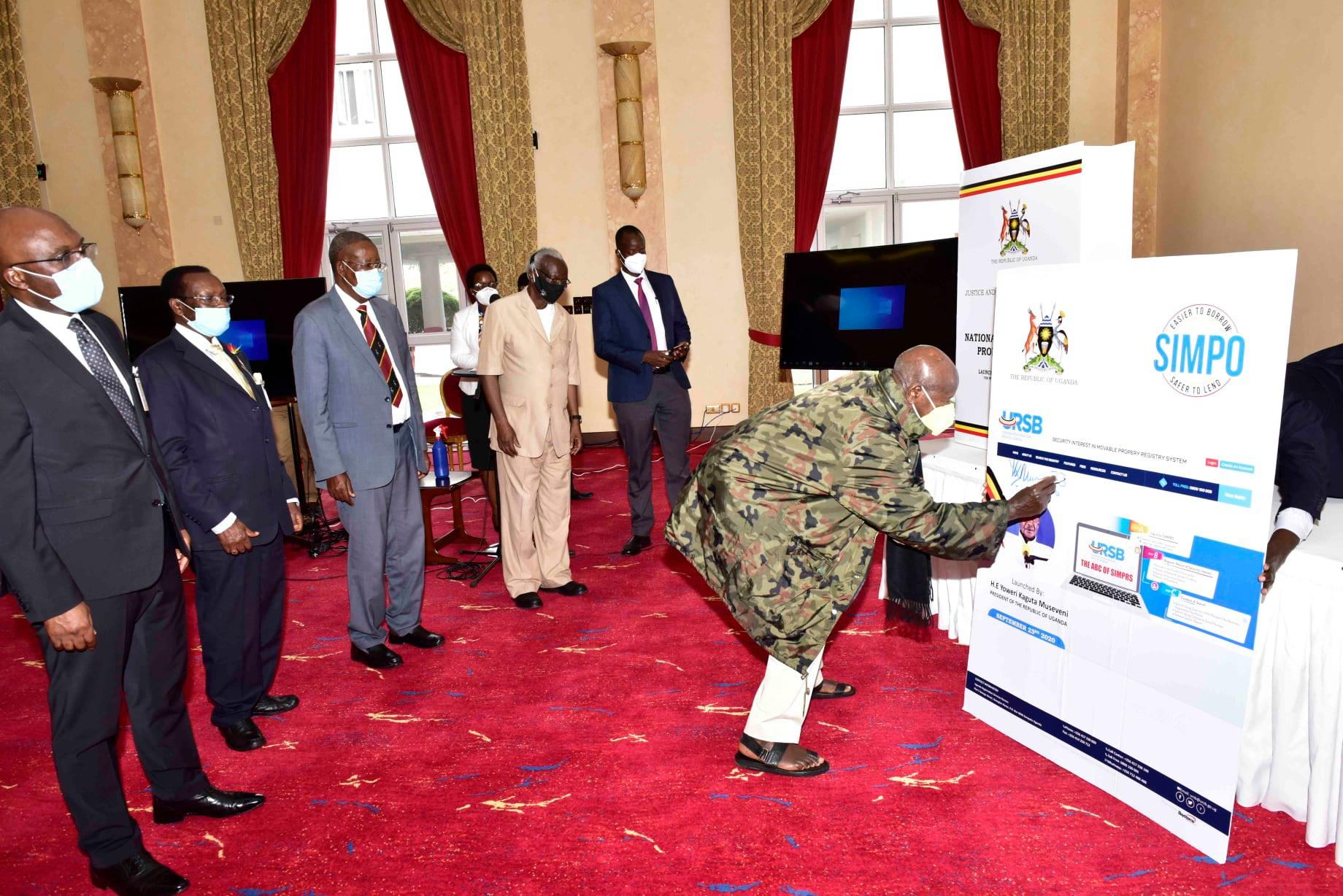 Museveni & URSB launch National Intellectual Property Policy and SIMPO