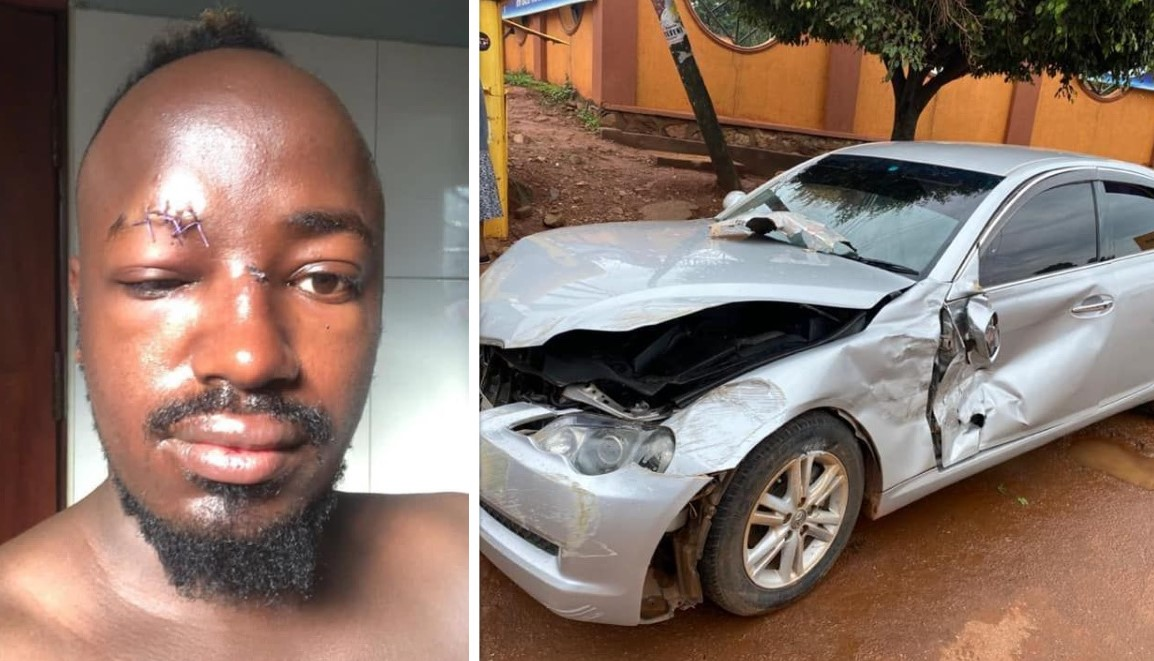 Ykee Benda involved in a terrible accident, his son, Dante, and wife safe
