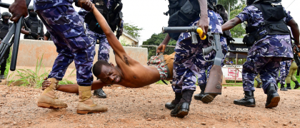 Who does Uganda Police Work for