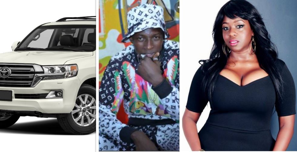 Amos K buys a brand new V8 for Angella Katatumba, ready to chew her