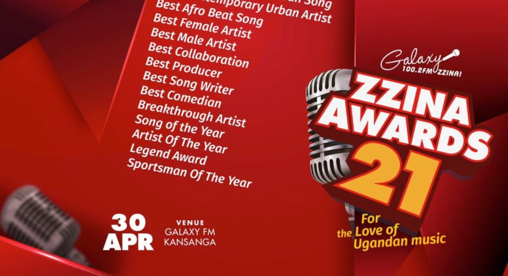 Full List: Galaxy FM opens up Nominations for the Zzina Awards 2021 winners