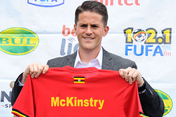 Irishman Johnathan Mckinstry has of today been fired as head coach of the Uganda Cranes