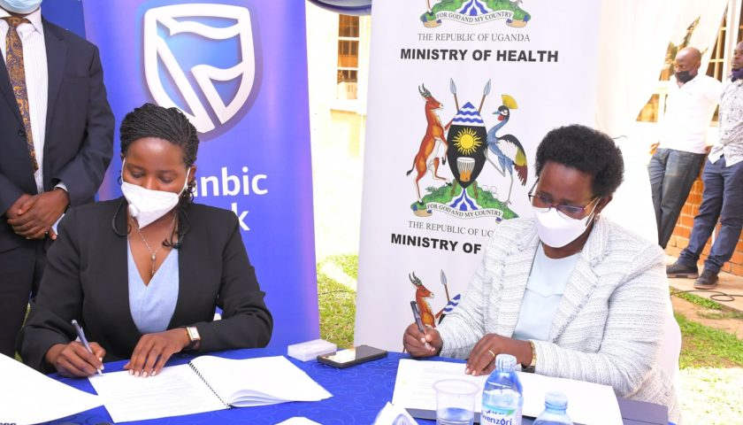 Stanbic Bank signs partnership with Ministry of Health
